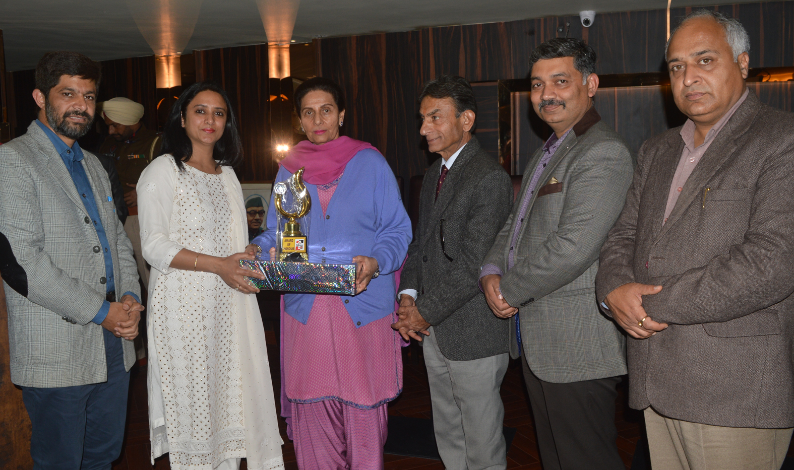 Honoured by Maharani Parneet Kaur